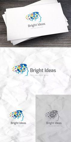 Bright Ideas Logo Template AI, EPS