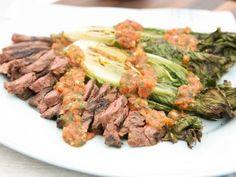 Skirt Steak Marinated with Roasted Tomato Salsa...
