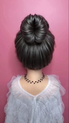 casual updos for long hair Braided hairstyle for long hair video tutorial simple and beautiful Braids For Thin Hair, Casual Updos For Long Hair, Updos For Medium Length Hair, Long Thin Hair, Up Dos For Medium Hair, Bun Hairstyles For Long Hair, Work Hairstyles, Hairstyles Videos, Hair Medium