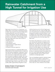 Rainwater Catchment From A Poly Tunnel