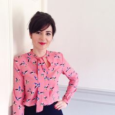 It's a Pussy Bow Blouse day today for #mmmay16. This is the version with the keyhole neckline. Didn't realise there were so many Pussy Bow Blouses in @lisacomfort's wardrobe! Me Made May is enlightening! #sewoverit #lisacomfort #pussybowblouse #sewing #sewcialists #memademay