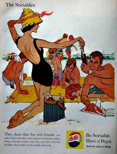 sun and sand pepsi - 1959
