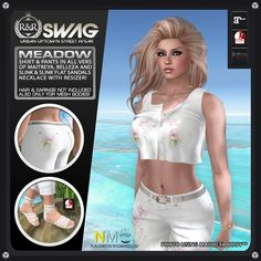 RNR Swag Group Gift Complete Outfit RNR Swag Meadow outfit, group gift (free): Complete outfit includes necklace, bracelet, jeans, sandals and top. Mesh body sizes. [...]