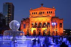 Frankfurt Germany Attractions | Alte Oper, the old opera house, now a concert hall من قسم صور ...