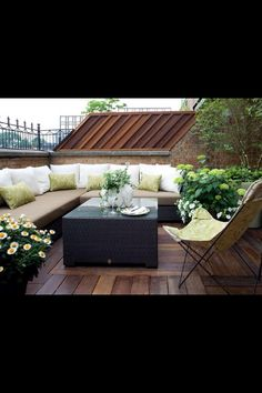 Perfect for a rooftop garden or courtyard. Small space with plenty of seating.