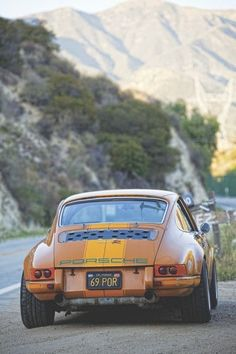 The Porsche 911 is a truly a race car you can drive on the street. It's distinctive Porsche styling is backed up by incredible race car performance. Porsche Sports Car, Porsche Cars, Porsche 356, Custom Porsche, Singer Porsche, Ferdinand Porsche, Retro Cars, Vintage Cars, Porsche Modelos