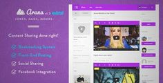 Download and review of Aruna - Retina Content Sharing, Gag, Meme Theme, one of the best Themeforest Entertainment themes