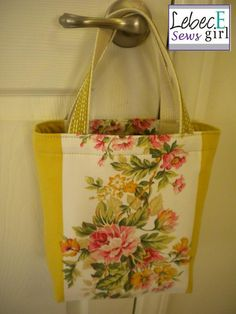 Upcycled Tote. Made with tablecloth.