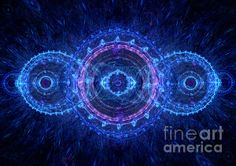 Title  Blue Circle Fractal   Artist  Martin Capek   Medium  Digital Art - Digitally Rendered Fractal