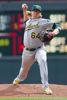 CrowdCam Hot Shot: Oakland Athletics pitcher A.J. Griffin pitches in the first inning against the the Minnesota Twins at Target Field. Photo by Brad Rempel
