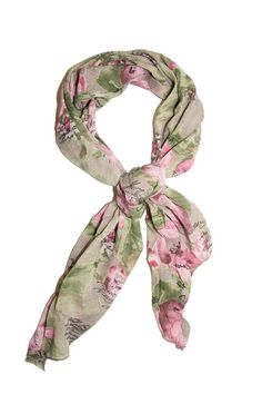 "Lightweight ""bias-cut"" floral scarf. Wear it around your neck in a loose knot over a t-shirt to add a touch of style to your outfit. Measures 34"" x 90"" Coppia Light Scarf by Kaskól. Accessories - Scarves & Wraps Dallas, Texas"