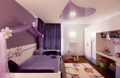 Bedroom, Cute And Great Room Themes For Girl That Looks So Amazing Beautiful And Awesom With The Great Color With The Smart And Exciting Design Ideas With The Great Furniture Arrangement With Small Bed0 With Purple Canopy ~ The Amazing Room Themes For Girls With The Smart And Beautiful Design