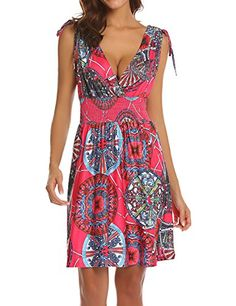 05c09d87a9d3 LuckyMore Loose Summer Beach Dresses for Women Sexy Bikin... https