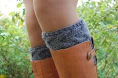 Hand knit Boot Cuffs Boot Cuffs Boot Socks Wool Boot by luludress