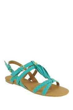 Qupid Lana Tassel Sandal