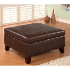 Large Ottoman Coffee Table Footstool in Brown | Shop4New.com