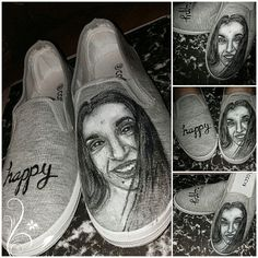 Shoes,my face, painting on shoes On Shoes, Me Too Shoes, Dance Shoes, Face, Painting, Design, Fashion, Moda, La Mode