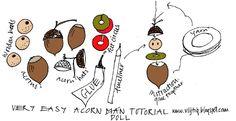 acorn doll tutorial