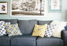grey, blue, an yellow. Love!