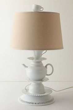Super cute! DIY candlestick/lamp base