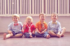 How precious are these little boy ties and bow ties?!