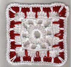 "Kaleidoscope Afghan 6"" Square Free Crochet Pattern"