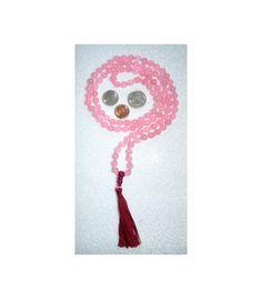 Rose Quartz Hand Knotted Mala Beads Necklace -Blessed Energized Karma  – AwakenYourKundalini
