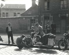 Europe by Motorcycle...photo taken in1953