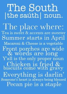 gotta love the south