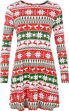 Womens Christmas Dress Ladies Xmas Reindeer Festive Tree Swing Dress FashionClothing http://www.amazon.co.uk/dp/B017FCBIJ2/ref=cm_sw_r_pi_dp_x1FBwb1CKGSY7