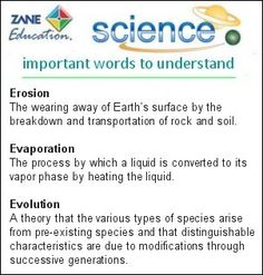 Science Words 8 - http://www.zaneeducation.com - Learn the meanings of some of the most important and commonly used words involved in the study of Science Topics.