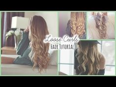 Loose Curls ♡ Hair Tutorial - YouTube THIS IS SUPER PRETTY AND EASY AND AHHHH
