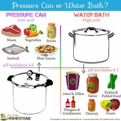 Pressure canning vs water bath. Canning for beginners Canning Pressure Cooker, Pressure Canning Recipes, Home Canning Recipes, Canning Tips, Pressure Cooking, Cooking Recipes, Canning Food Preservation, Preserving Food, Canning Vegetables