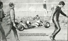 """mathgbr: """" """"Ayrton Senna was a kart racer common as any other and even helped the mechanics to transport the kart"""" """" V Max, Kart Racing, F1 Drivers, Karting, Vintage Racing, Go Kart, Formula One, Pilot, Cars"""
