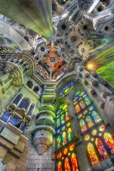 Sagrada Familia, Barcelona.  Where  spent my 40th birthday.  A place I adore