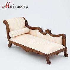 Dollhouse 1/12 Scale Miniature Furniture Hand Carved Cloth Nice Sofa /  Lounge
