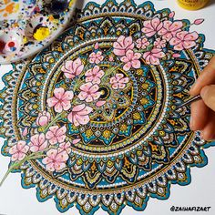 Mini cherry blossom #mandala