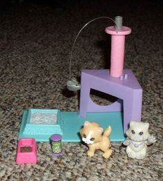 VINTAGE 1992 Littlest Pet Shop Kitten Playset & Accessories - SO CUTE! Kenner #Kenner