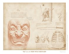 """""""Oni"""" from the Teen Wolf Bestiary by Swann Smith. Art prints starting at US$20."""