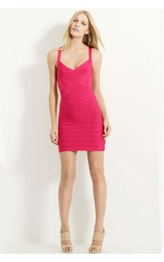 Halter Red Bandage Dress CheapOutlet