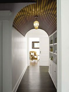 Stain On Ceiling Hallway Hallways Plank Hardwood Floors Dark