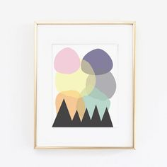 8.5 x 11 Circles and Triangles print on Etsy, $24.59 AUD