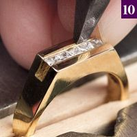 Practical Stone Setting - JCK channel setting. Not to this point yet, but I want to be!