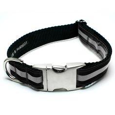 Black Reflective Dog Collar – Peticular