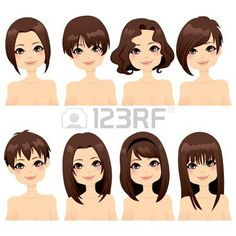 Tremendous Women Mouths Cartoon And Lady Short Hairstyles For Black Women Fulllsitofus