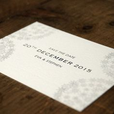 Snowflakes Wedding Save The Date Card