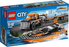 LEGO City 4x4 met Speedboot - 60085