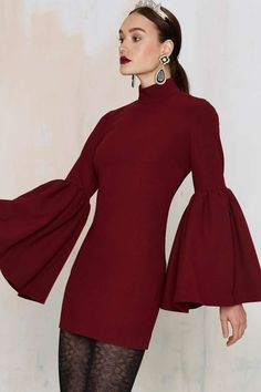 Nasty Gal Kiss and Bell Mini Dress - Clothes   Dark Romance   Dark Romance   Shift   Dresses