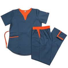 Lupe poly petroleo con naranja – oh! Dental Scrubs, Medical Scrubs, Doctor Scrubs, Scrubs Uniform, Medical Uniforms, Dresses For Work, Saatchi, How To Wear, Outfits