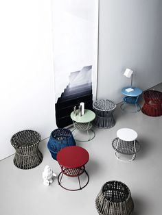 Iron and polyester pouf ZIGGY | Pouf Ziggy Collection by Saba Italia | design Emilio Nanni